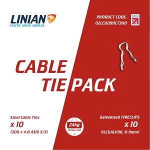 FireClip Cable Tie Pack